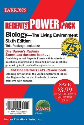 Regents Biology Power Pack: Let's Review Biology + Regents Exams and Answers: Biology Cover Image