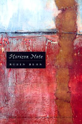 Horizon Note (Wisconsin Poetry Series) Cover Image