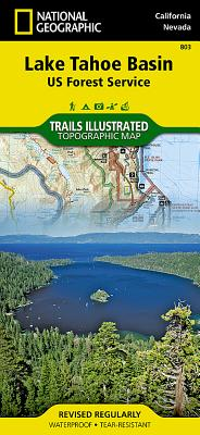 Lake Tahoe Basin [Us Forest Service] (National Geographic Trails Illustrated Map #803) Cover Image