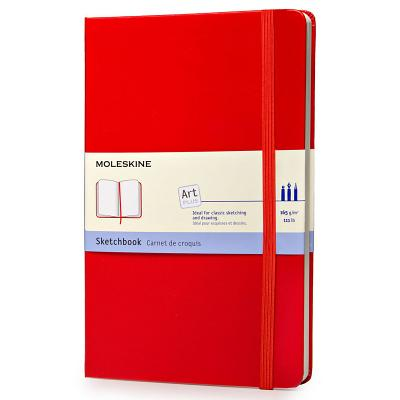 Moleskine Art Plus Sketchbook, Large, Plain, Red, Hard Cover (5 x 8.25) (Classic Notebooks) Cover Image