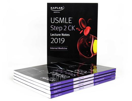 USMLE Step 2 CK Lecture Notes 2019: 5-book set (Kaplan Test Prep) Cover Image