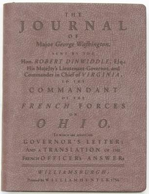 The Journal of Major George Washington: Dark Brown Lined Journal Cover Image