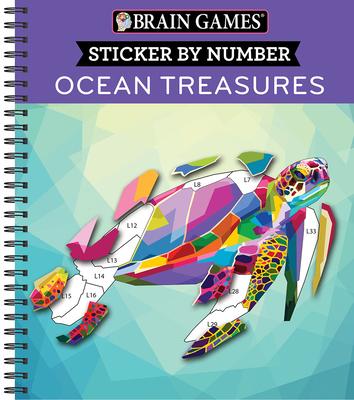 Brain Games - Sticker by Number: Ocean Treasures Cover Image