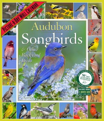 Audubon Songbirds & Other Backyard Birds Picture-A-Day Wall Calendar 2016 Cover Image