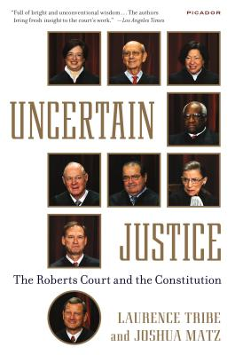 Cover for Uncertain Justice