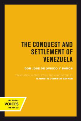 Cover for The Conquest and Settlement of Venezuela