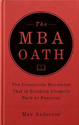 The MBA Oath Cover