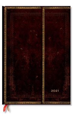 Paperblanks 2021 Black Moroccan Grande 12-Month Cover Image