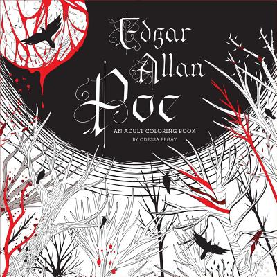 Edgar Allan Poe: An Adult Coloring Book Cover Image