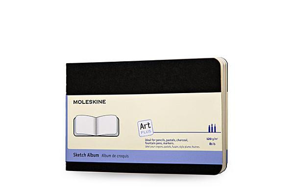 Moleskine Art Plus Sketch Album, Pocket, Black, Soft Cover (3.5 x 5.5) Cover Image