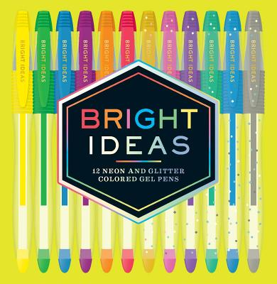 Bright Ideas: 12 Neon and Glitter Colored Gel Pens: (Gel Pens for Coloring, Glitter Pens for Adult Coloring Books, Sparkle Gel Pens) Cover Image