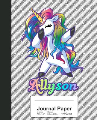 Journal Paper: ALLYSON Unicorn Rainbow Notebook Cover Image