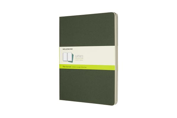 Moleskine Cahier Journal, Extra Large, Plain, Myrtle Green (7.5 x 10) Cover Image