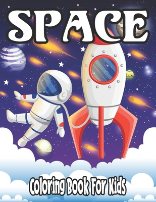 Space Coloring Book for Kids Cover Image