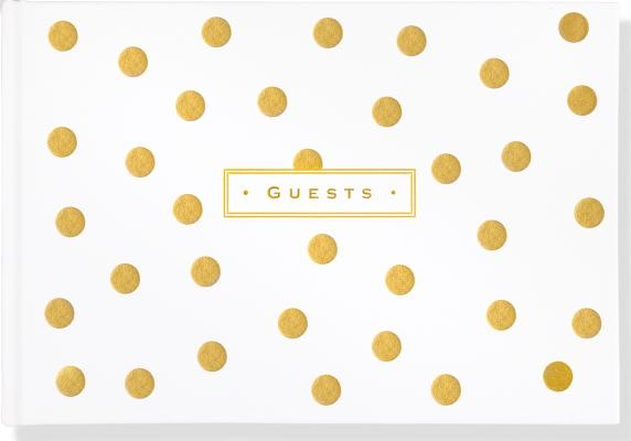 Guest Book Gold Dots Cover Image