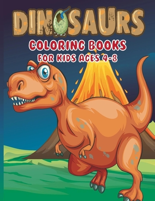 Dinosaur Coloring Book for Kids Ages 4-8 Cover Image