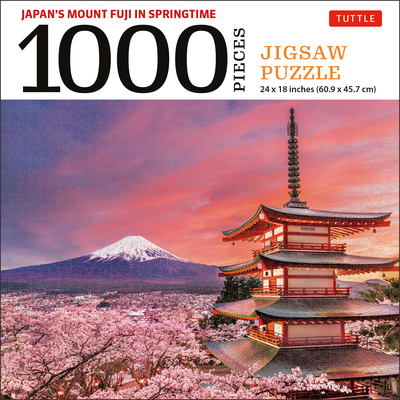 Mount Fuji Japan Jigsaw Puzzle - 1,000 Pieces: Snowcapped Mount Fuji and Chureito Pagoda in Springtime (Finished Size 24 in X 18 In) Cover Image