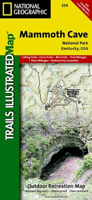 Mammoth Cave National Park (National Geographic Trails Illustrated Map #234) Cover Image