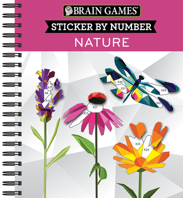 Brain Games - Sticker by Number: Nature - 2 Books in 1 (42 Images to Sticker) Cover Image