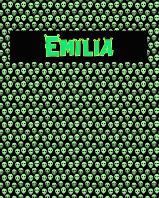 120 Page Handwriting Practice Book with Green Alien Cover Emilia: Primary Grades Handwriting Book Cover Image