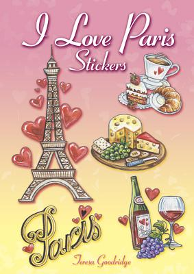 I Love Paris Stickers (Dover Stickers) Cover Image