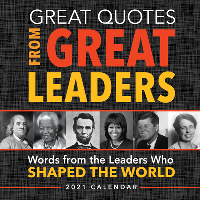 2021 Great Quotes from Great Leaders Boxed Calendar Cover Image