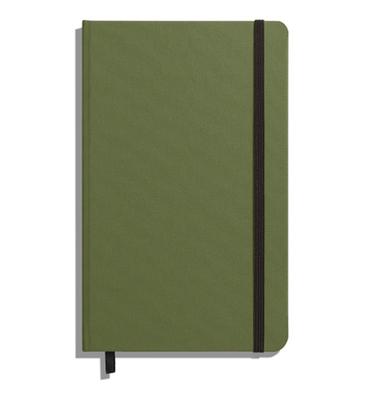 Shinola Journal, HardLinen, Ruled, Olive (5.25x8.25) Cover Image
