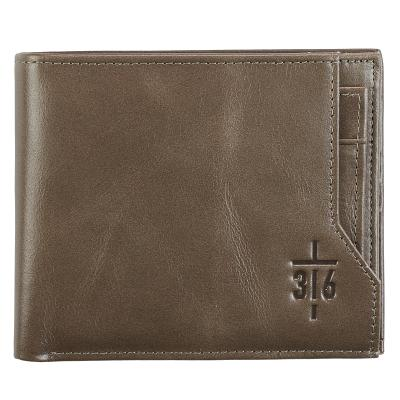Leather Wallet John 3: 16 Cover Image