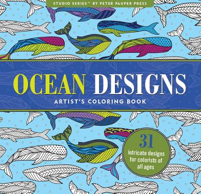 Ocean Designs Adult Coloring Book: 31 Stress-Relieving Designs Cover Image