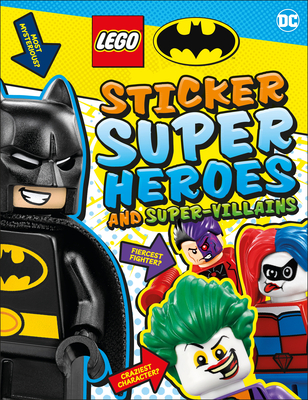 LEGO Batman Sticker Super Heroes and Super-Villains (Ultimate Sticker Book) Cover Image
