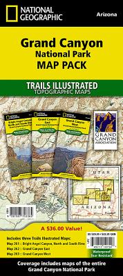 Grand Canyon National Park [Map Pack Bundle] (National Geographic Trails Illustrated Map) Cover Image
