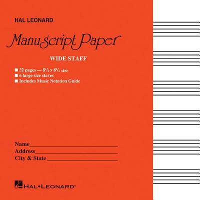Wide Staff Manuscript Paper (Red Cover) Cover Image