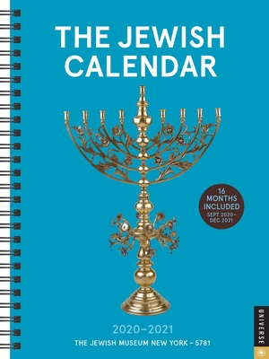 The Jewish Calendar 16-Month 2020-2021 Engagement Calendar: Jewish Year 5781 Cover Image