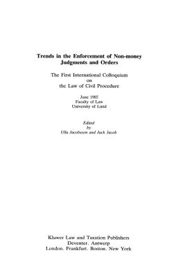 Trends in the Enforcement of Non-Money Judgments and Orders Cover Image