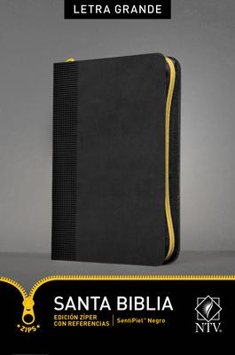 Santa Biblia Ntv, Edición Zíper Letra Grande Con Referencias Cover Image