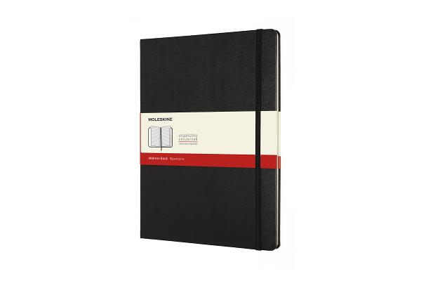 Moleskine Address Book, XL, Black, Hard Cover (7.5 x 9.75) Cover Image