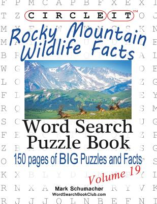 Circle It, Rocky Mountain Wildlife Facts, Word Search, Puzzle Book Cover Image