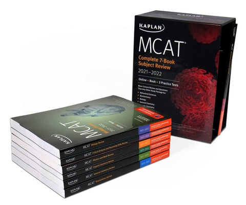 MCAT Complete 7-Book Subject Review 2021-2022: (Online + Book + 3 Practice Tests) (Kaplan Test Prep) Cover Image