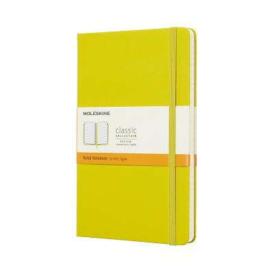 Moleskine Classic Notebook, Large, Ruled, Yellow Dandelion, Hard Cover (5 x 8.25) Cover Image