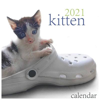 2021 Calendar: 2021 Wall Calendar -kitten Calendar, Monthly View, 12-Month, cats and Pets Theme Cover Image