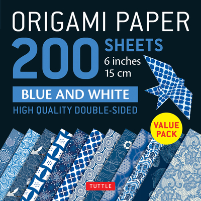 Origami Paper 200 Sheets Blue and White Patterns 6
