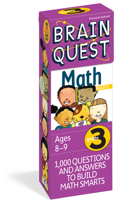 Brain Quest Grade 3 Math  (Brain Quest Decks) Cover Image