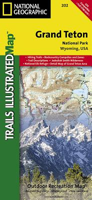 Grand Teton National Park (National Geographic Trails Illustrated Map #202) Cover Image