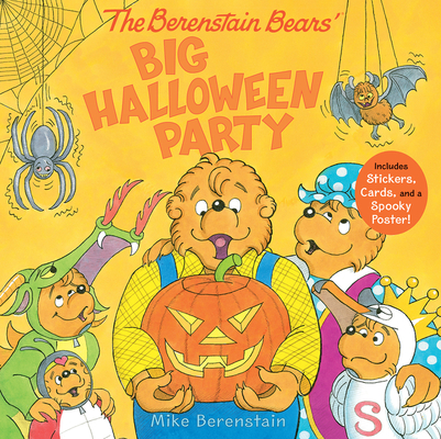 The Berenstain Bears' Big Halloween Party: Includes Stickers, Cards, and a Spooky Poster! Cover Image