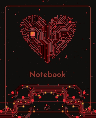 College Notebook: Student notebook Journal Diary Heart circuit cover notepad by Raz McOvoo Cover Image