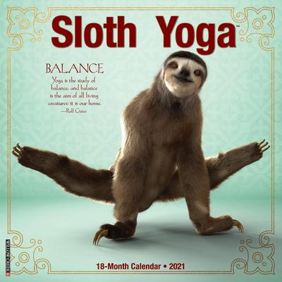 Sloth Yoga 2021 Wall Calendar Cover Image