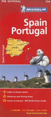 Michelin Spain & Portugal (Michelin Maps #734) Cover Image