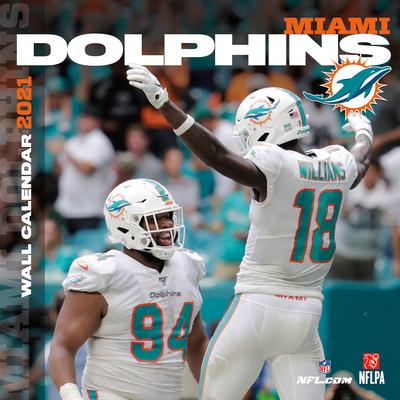 Miami Dolphins 2021 12x12 Team Wall Calendar Cover Image