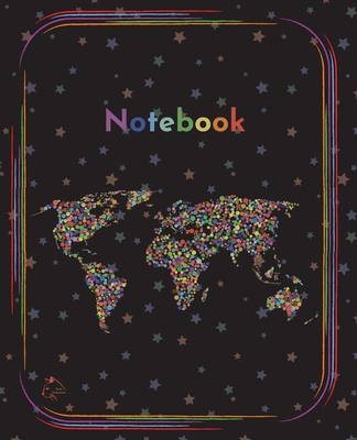 College Notebook: Student notebook Journal Diary Rainbow continents cover notepad by Raz McOvoo Cover Image
