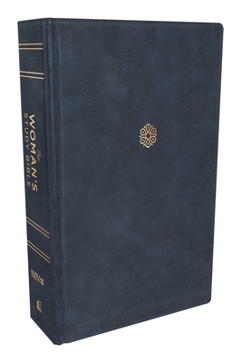 Niv, the Woman's Study Bible, Leathersoft, Blue, Full-Color, Thumb Indexed: Receiving God's Truth for Balance, Hope, and Transformation Cover Image